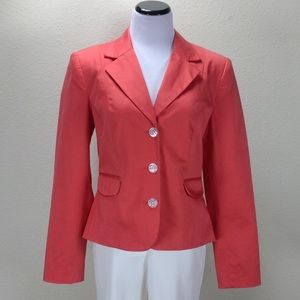 George Pink 3 Button Fitted Blazer